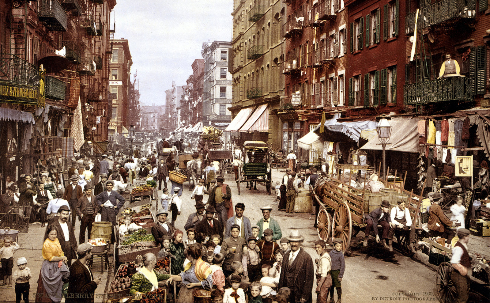 mulberry street in brooklyn in the 1800s.