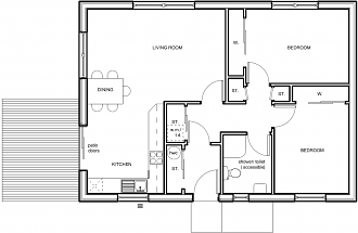 Plan of Orwick Lodge