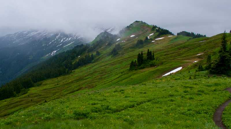 Clouds hang low near White Pass