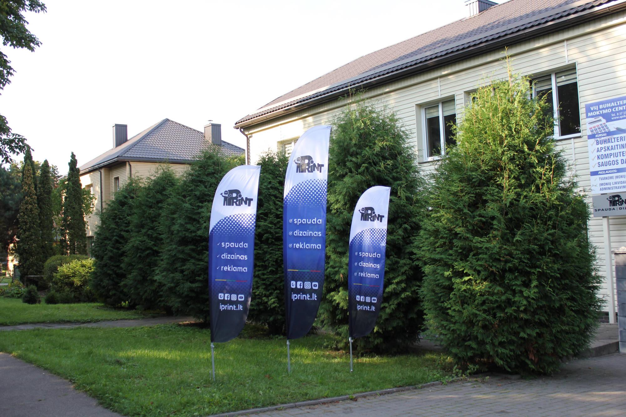 Reklaminių vėliavų pavyzdžiai