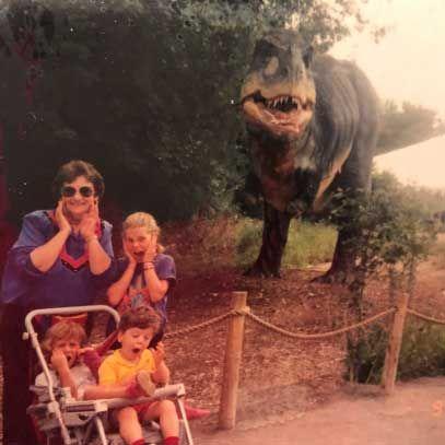 Us with Grandma Fran at Disneyland