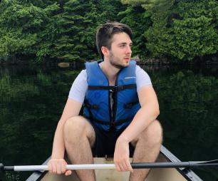 me on a canoe