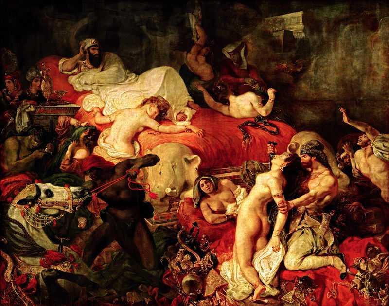 The Death of Sardanapalus, by Eugene Delacroix in 1827, Philadelphia Museum of Art