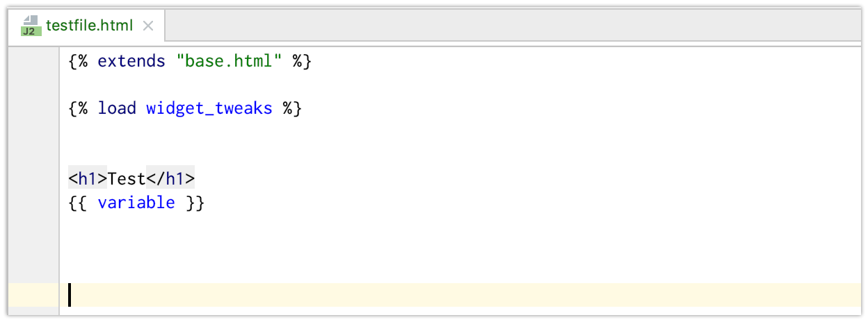 Template Language example, mix HTML with Python code