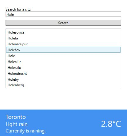 Weather App WPF MVVC
