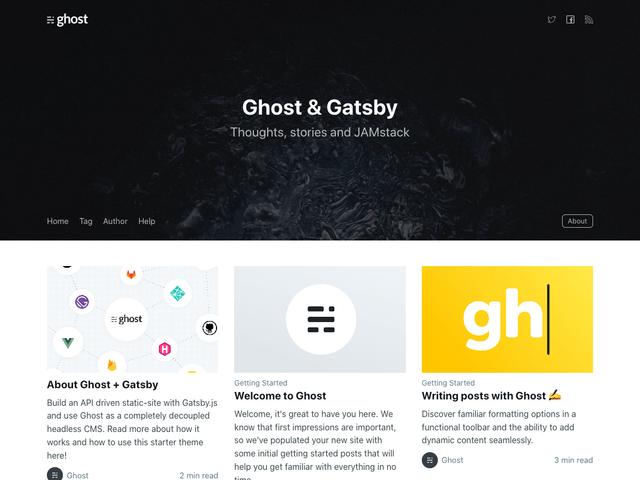 Gatsby Starter Ghost- cover