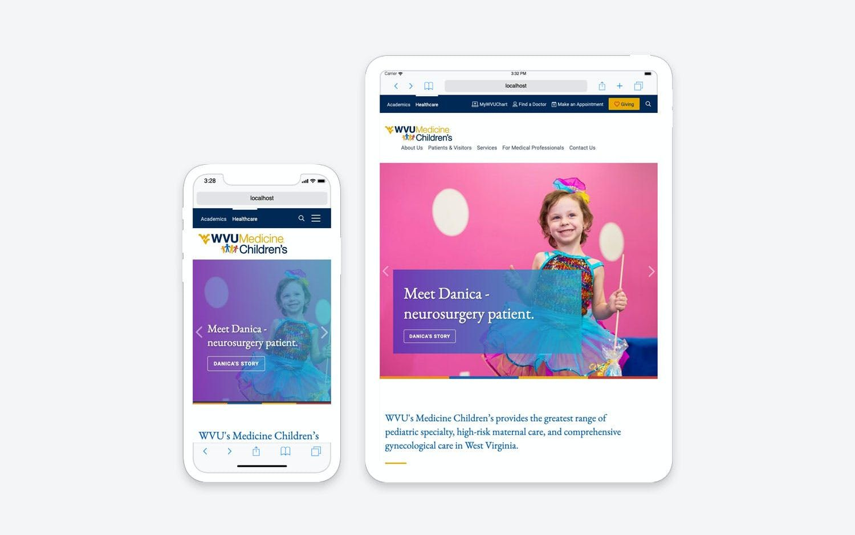 Website - mobile/tablet view
