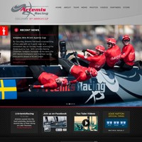 Team Artemis' homepage for the America's Cup.
