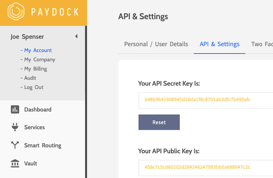 API public key