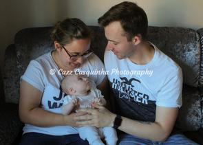 Auntie and Uncle with Their Baby Niece at 5 Weeks Old