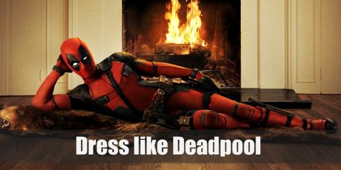 """Deadpool outfit is very similar to Spiderman's suit, being that it is a one-piece suit with a tight hood hiding the identity of the wearer. """