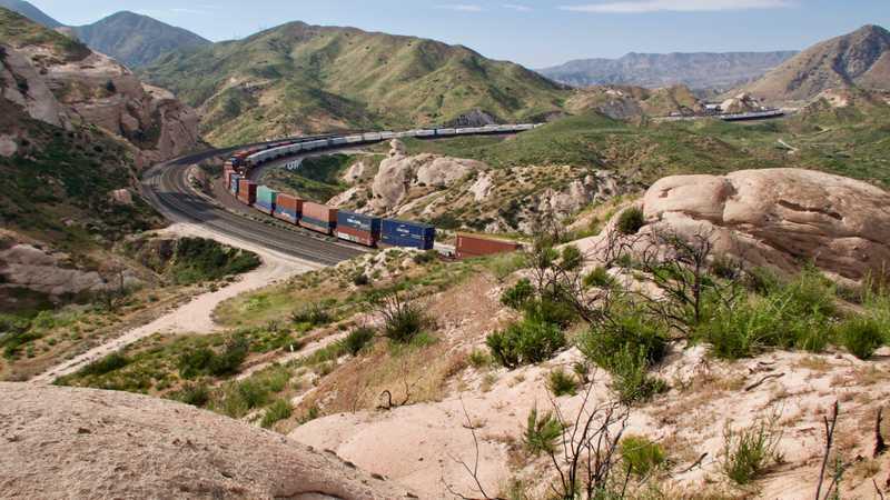 Railroad at Cajon Pass