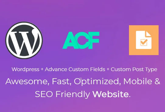 create website using acf and custom post type