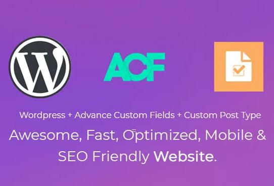 create website using acf and custom post type