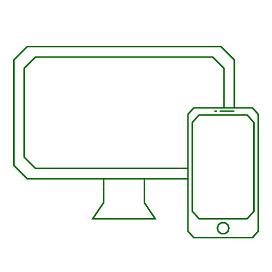 icon of desktop computer and mobile phone