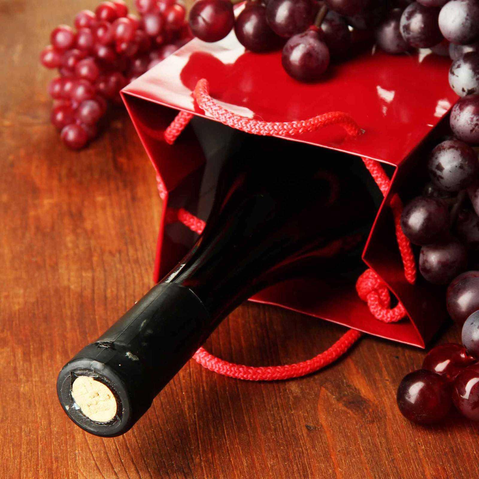 Engraved Wine Bottle in a Gift Bag