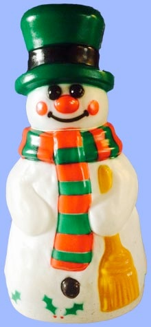 Snowman With Holly photo