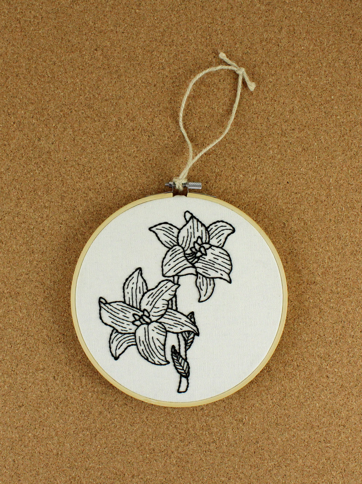 embroidered lilies