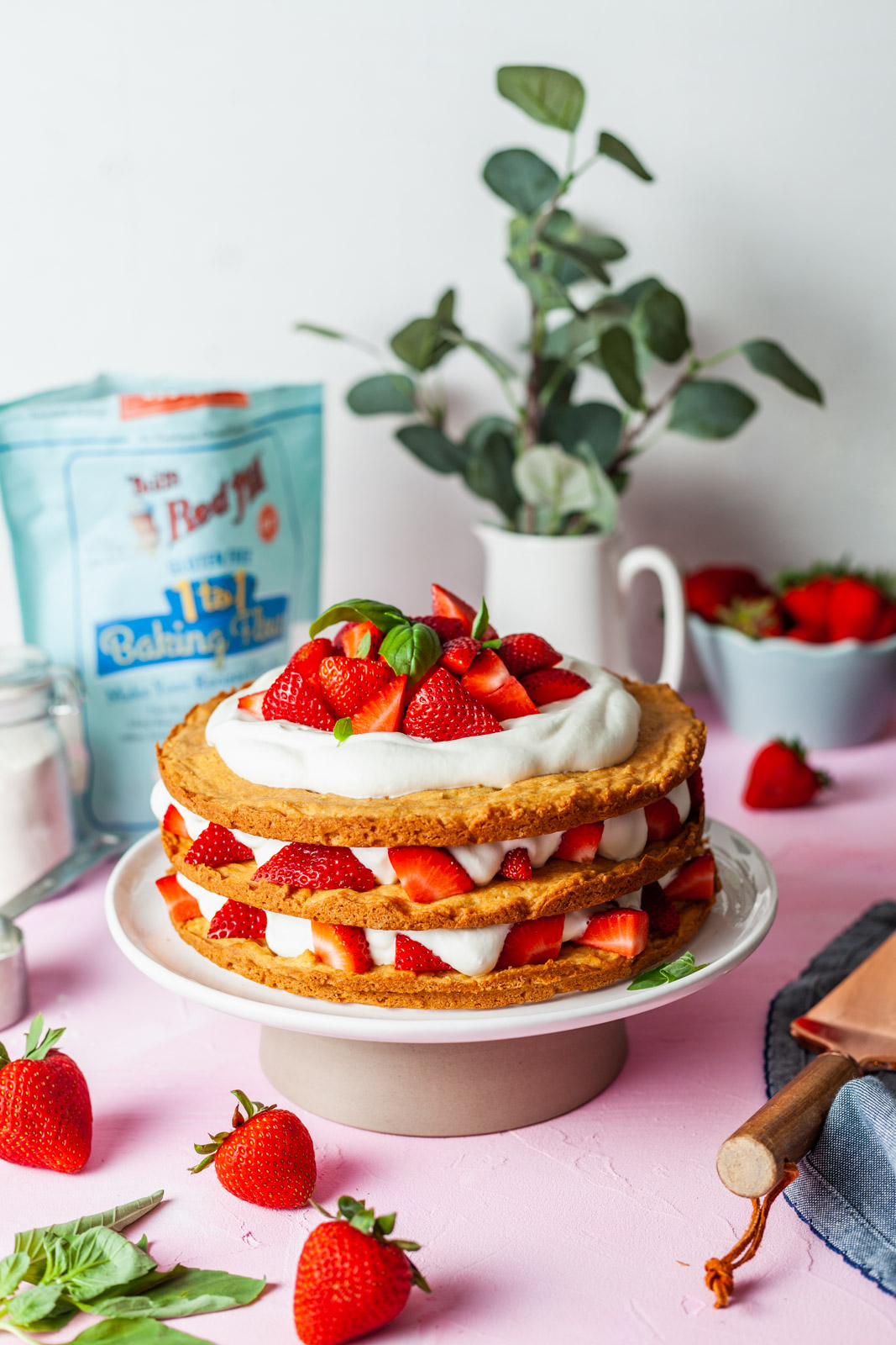 Classic Strawberry Shortcake Layered Cake