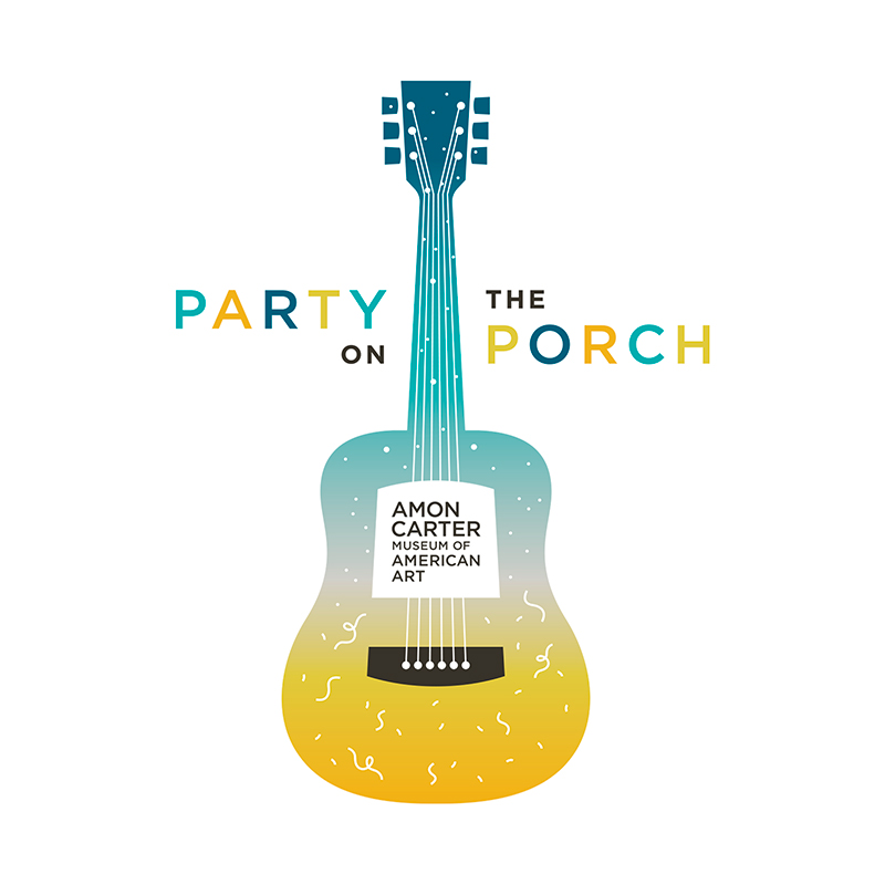 party on the porch guitar illustration