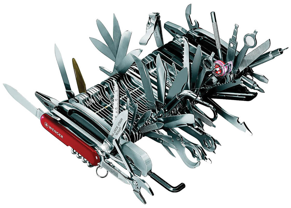swiss army knife as an illustration of feature creep