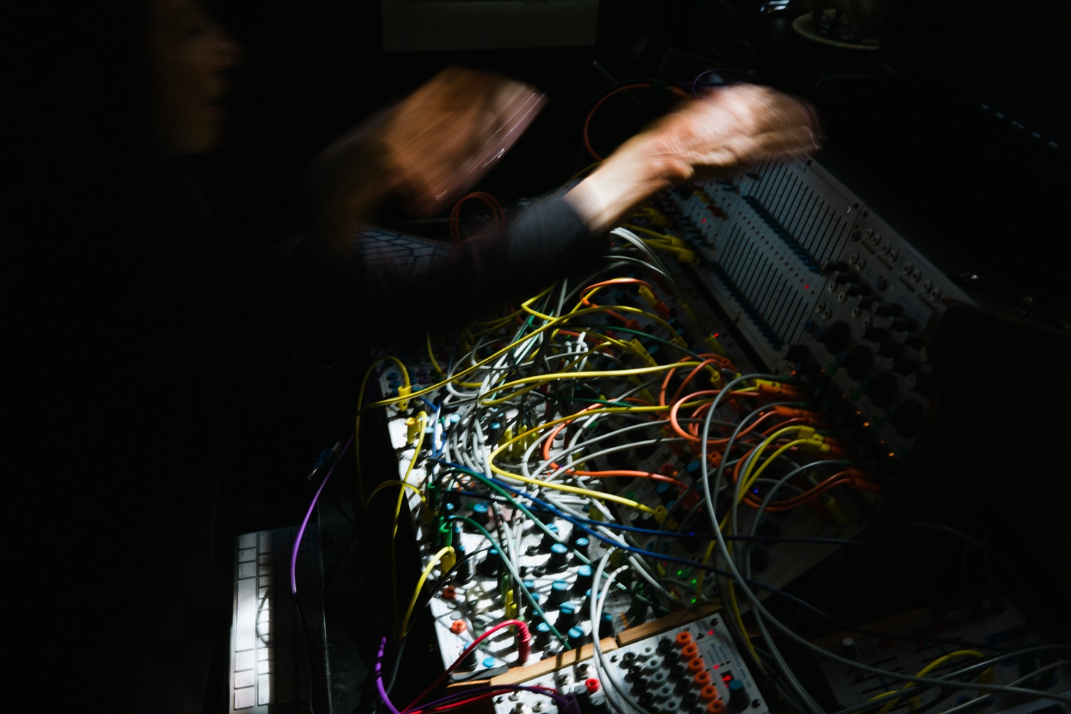Suzanne Ciani operates a synthesizer