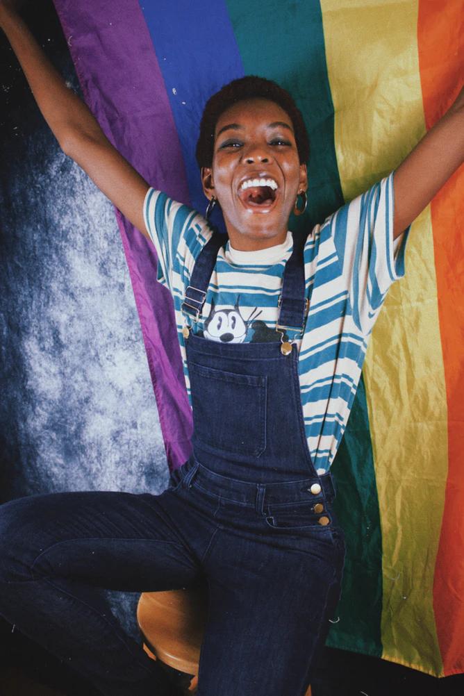Image of Jakayla Toney with Pride Flag