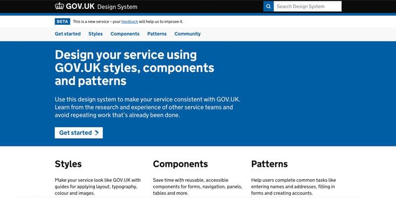GOV.UK Design System