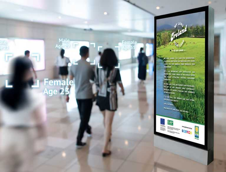 agri aware digital advertisement in airport