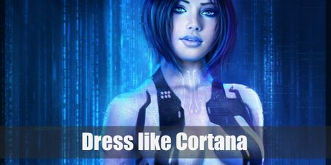 """Cortana's blue bodysuit is not a complicated or accessory driven look, but thrives on simplicity and sleekness."""