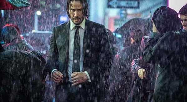 Keanu Reeves como John Wick no filme John Wick 3 Parabellum
