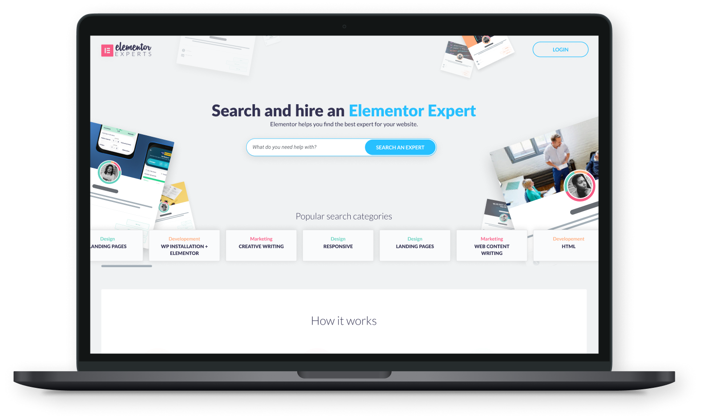 elementor experts main page
