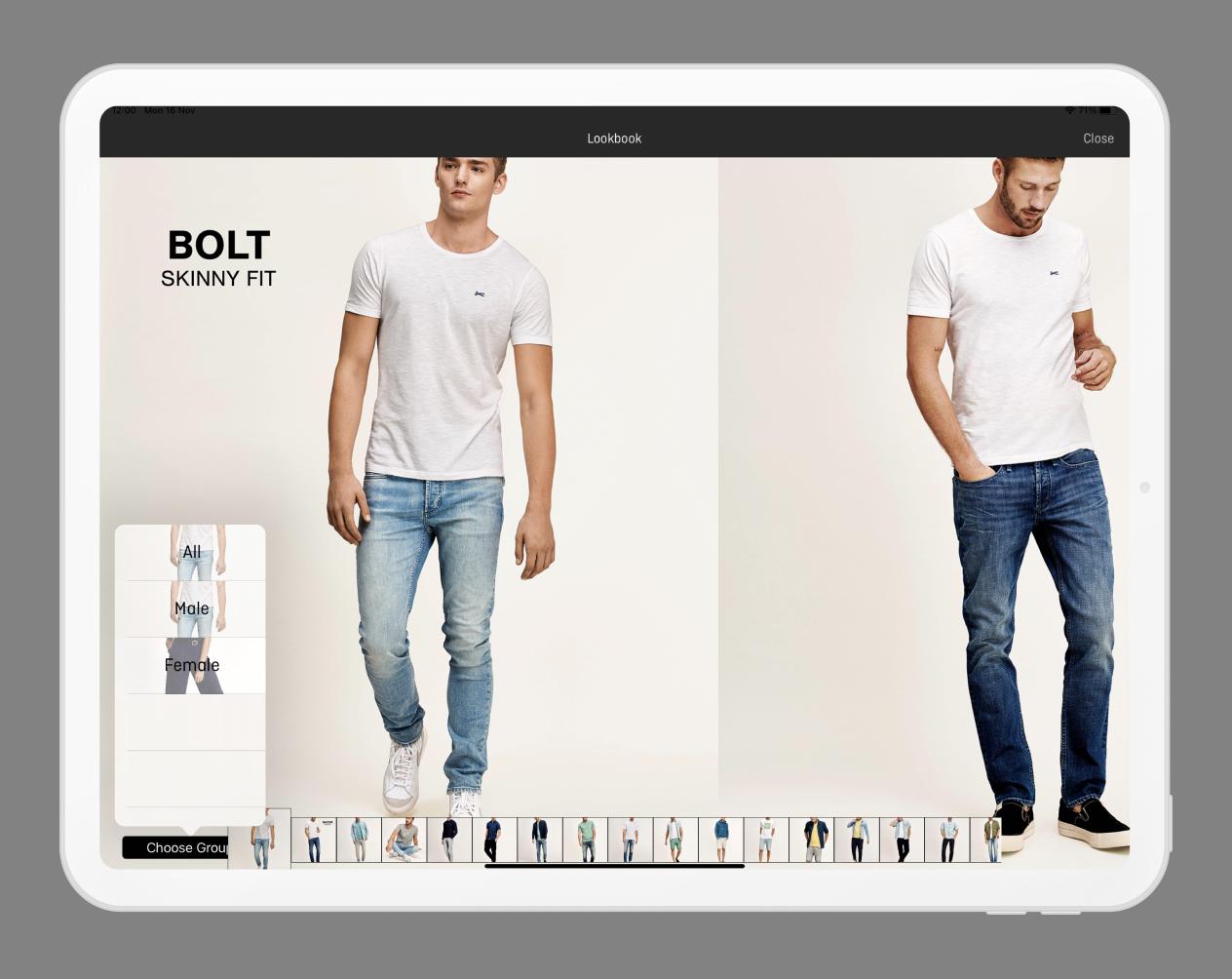 Denham colect sales rep app