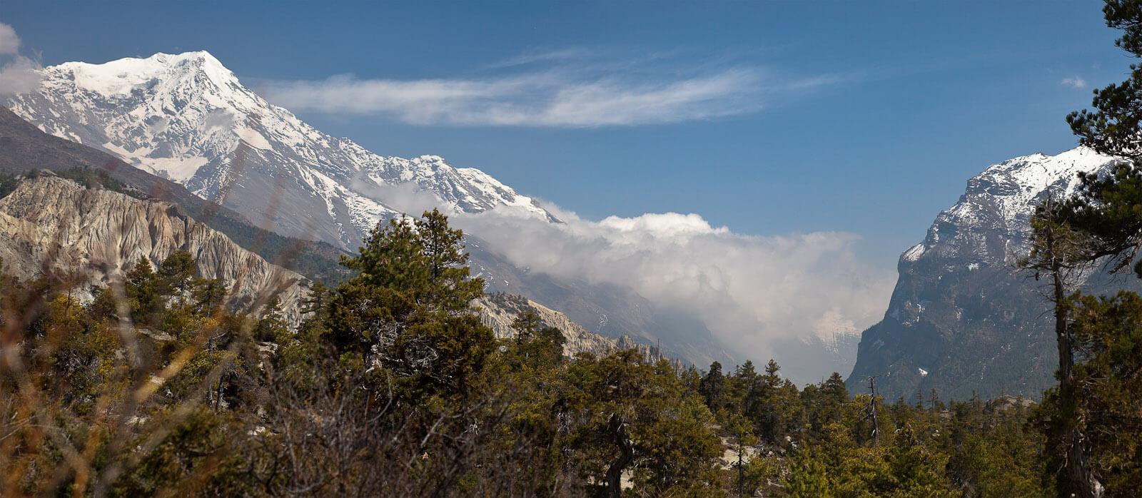 Pisang Peak and Marshyangdi Valley Looking East