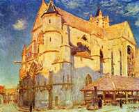 'Church in Moret', painted by Alfred Sisley in 1889