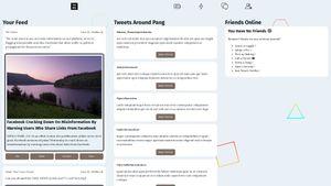 Screenshot of NotSocial, a fake social media site I made.