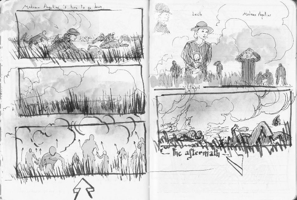 Suite Française first rough storyboard 08