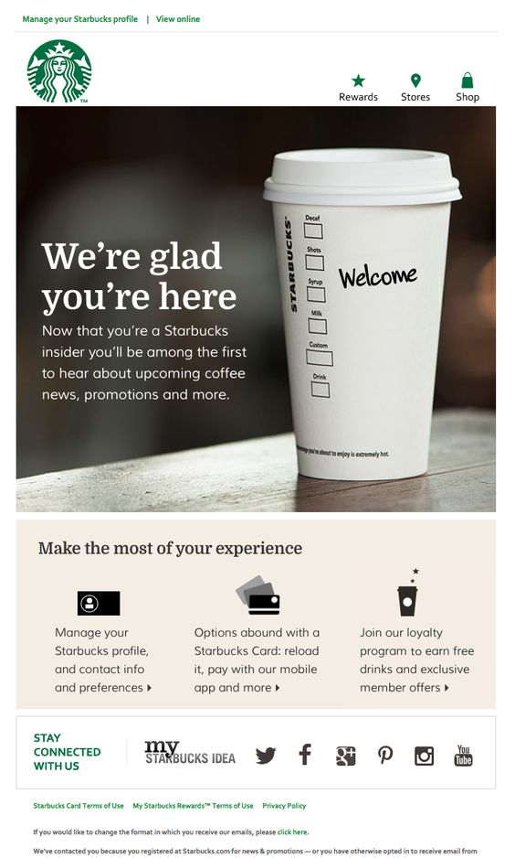 welcome starbucks