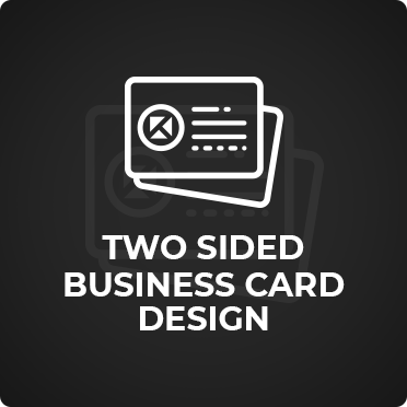Two Sided Business Card Design KDS Digital