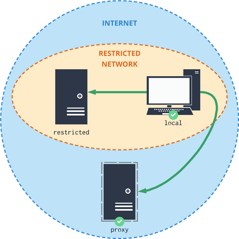 A case with a configured proxy server