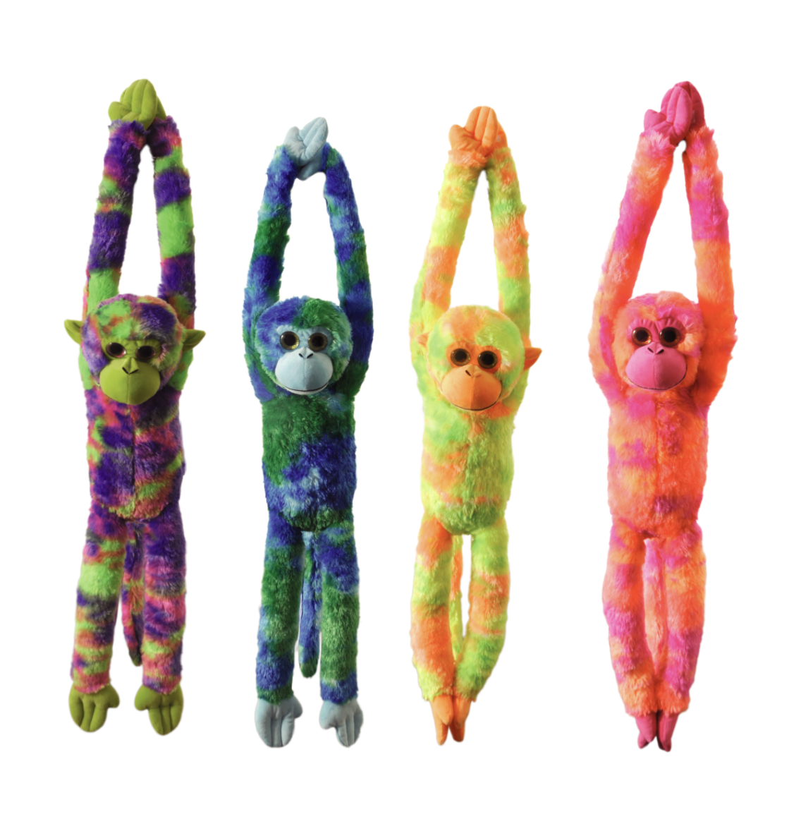 The Petting Zoo: Tie Dye Jumbo Monkey Assortment