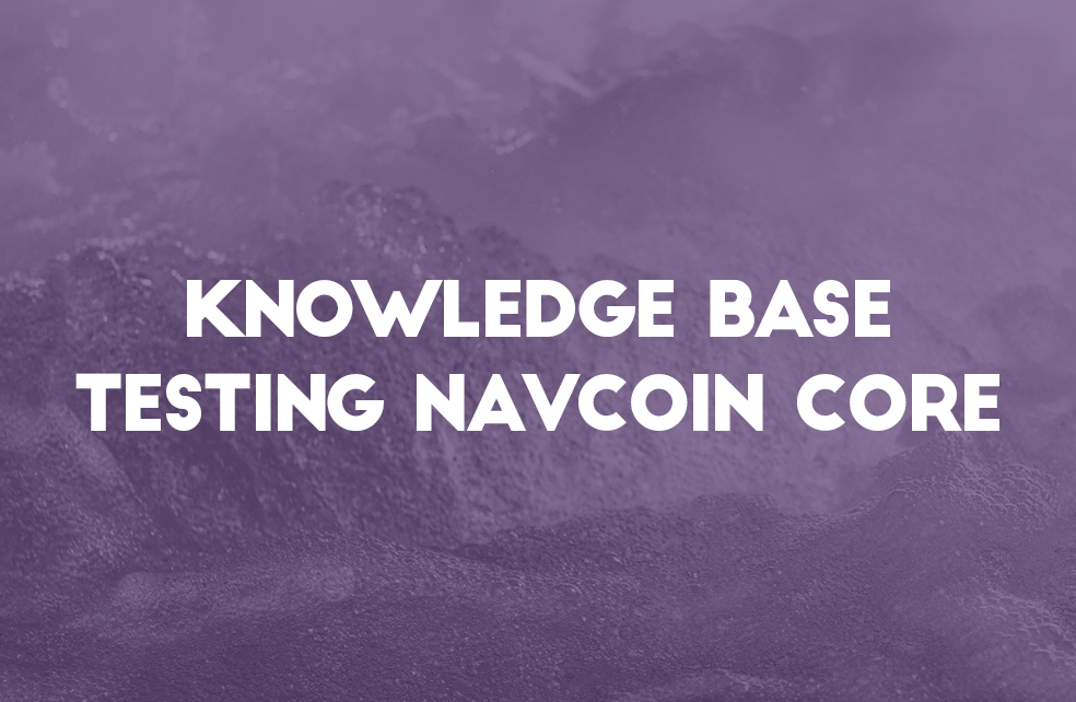 New Knowledge Base Article & Testing NavCoin Core