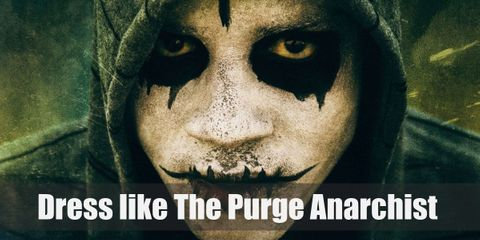 The Purge Anarchy mob seemingly casual outfits are suddenly intimidating and dangerous because of their masks and weapons. Who knew a hoodie can look so scary?