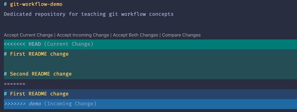 VS Code's Merge Conflict Helper