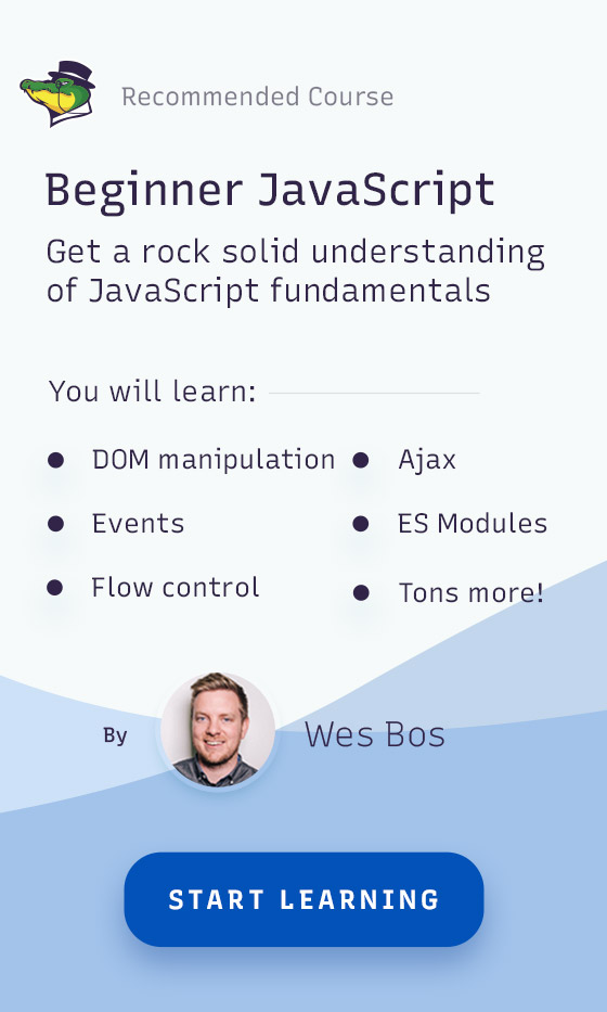 Our recommended JavaScript beginner course