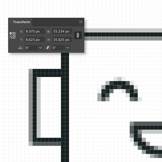 DON'T: Just make shapes willy-nilly. If the X-Y coordinates or width and height of elements fall on fractions of a whole number, your image WILL look janky once it's optimized.