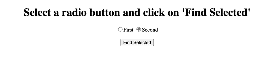 javascript get selected radio button