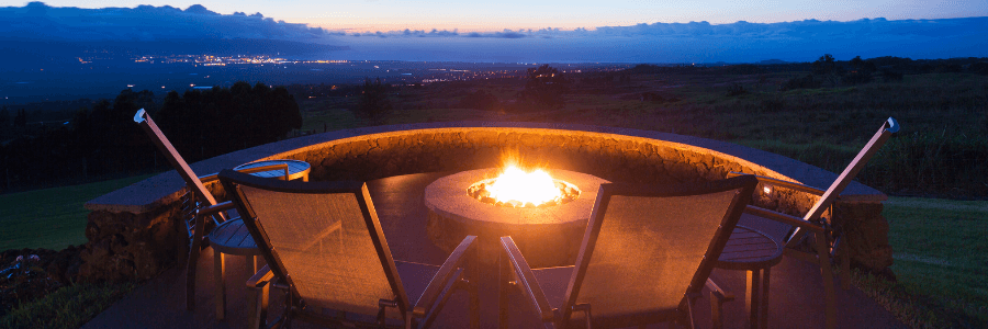 Backyard Makeover - Fire Pit View