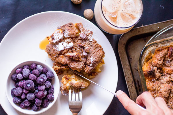 Overnight ponche de creme French toast