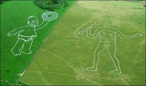 Homer and the Cerne Abbas Giant